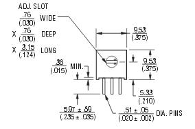 3286p_BOURNS电位器产品图纸